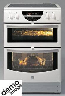 komfur med 2 ovne